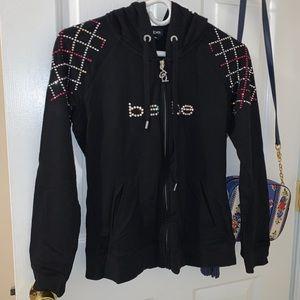 Bebe Rhinestone Studded Sweatshirt